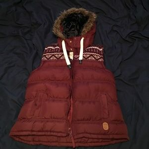 Tokyo Laundry Red Puffer Vest